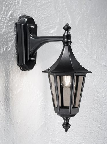 Franklite LA1603-1 Black Wall Light